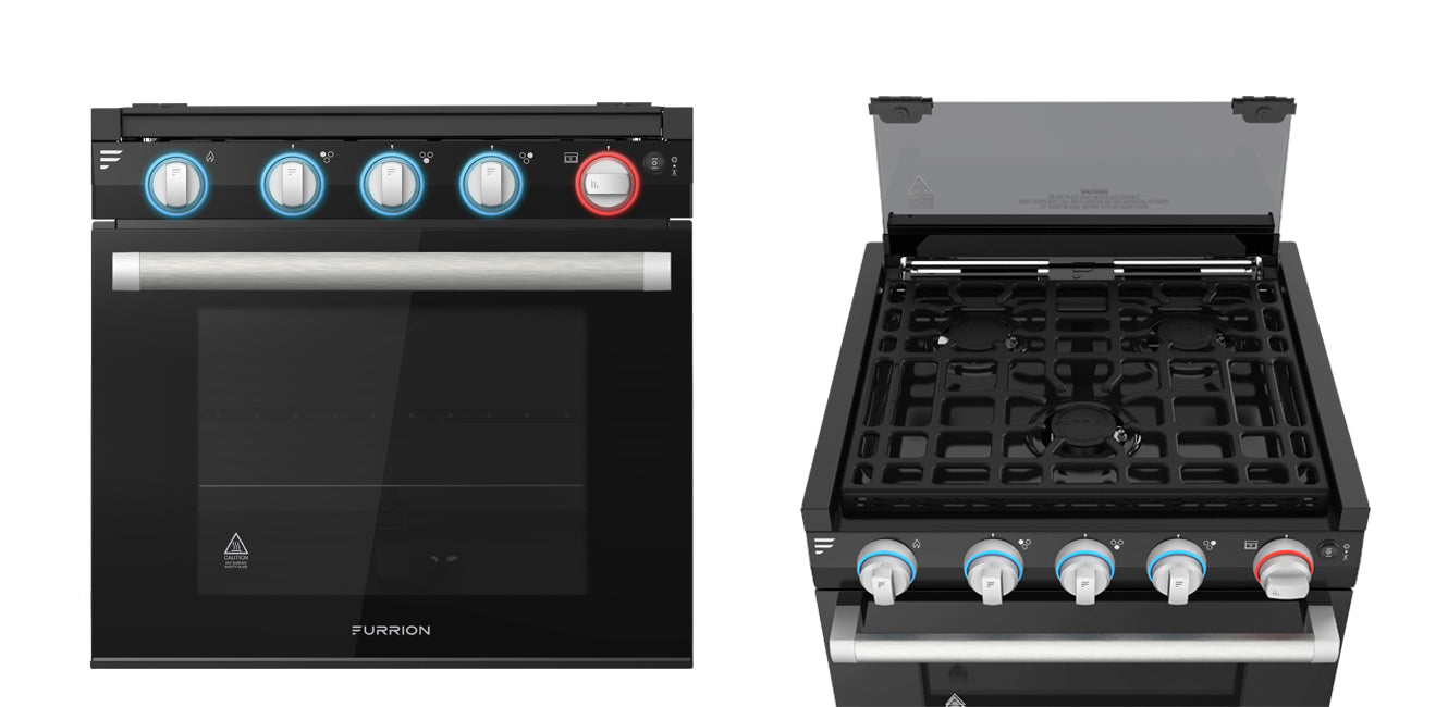 Furrion oven range top and front