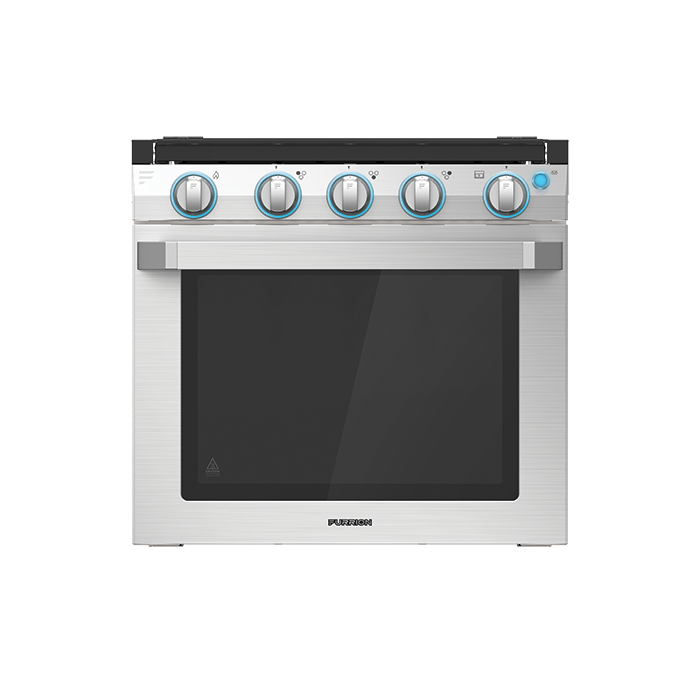 21 2 In 1 Range Oven With Die Cast Grate Stainless