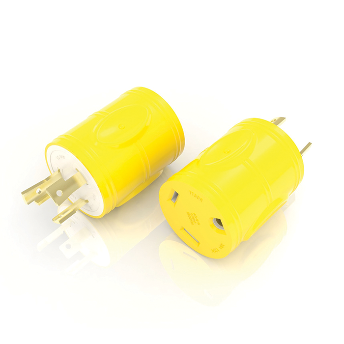 FURRION 30A FEMALE LOCKING CONNECTOR YELLOW