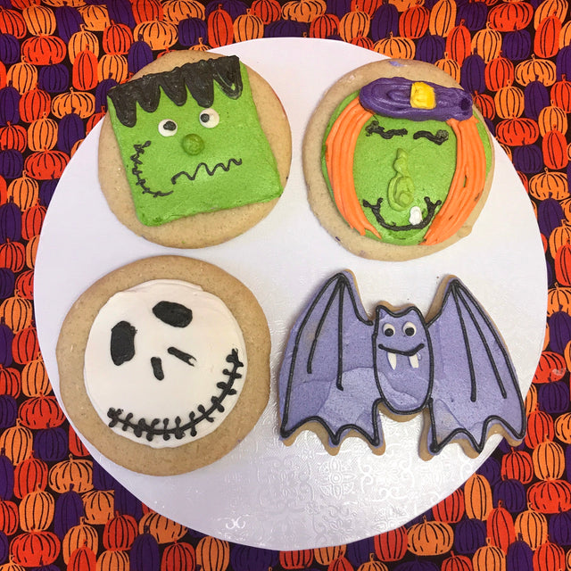 Four Frosted Halloween Cookies (pickup only)