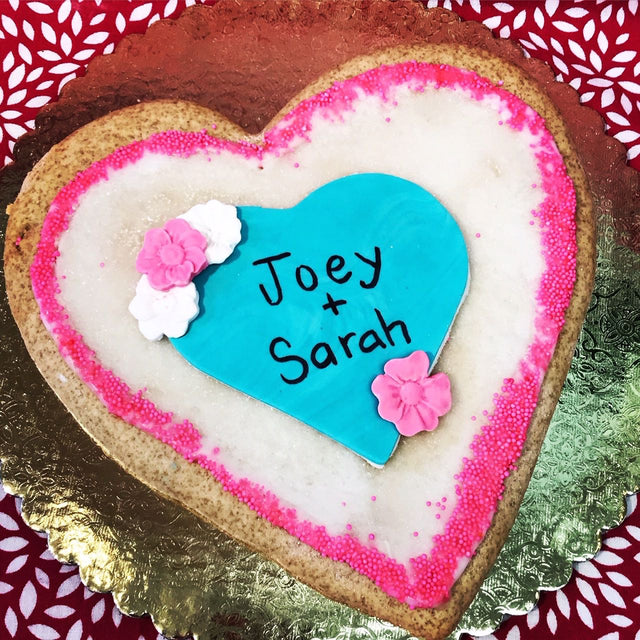 "SHIP a Large 8"" Custom Valentine's Day Cookie"