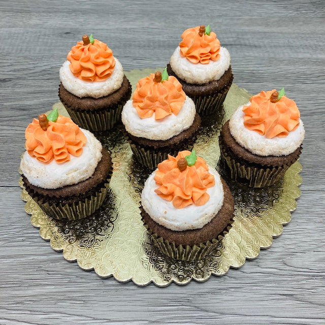 6 Pumpkin Spice Cupcakes (pickup only)