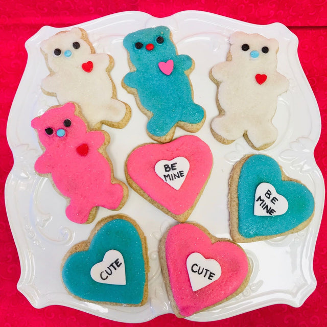 Bear Heart cookie set (SHIP)