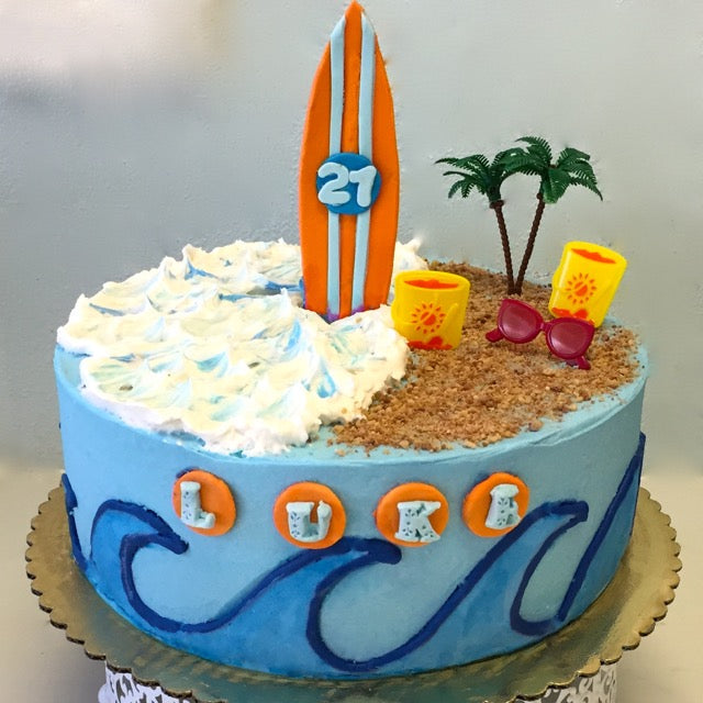 Surf's Up Cake