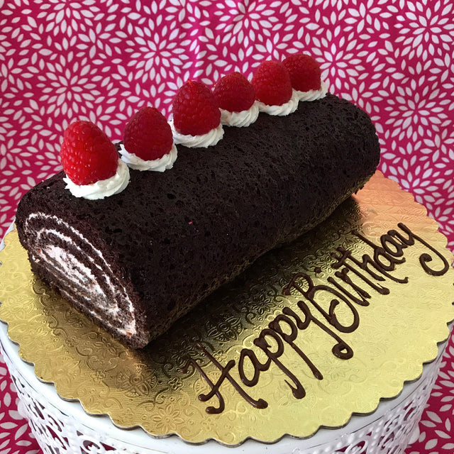 Chocolate Raspberry Spiral cake (pickup only