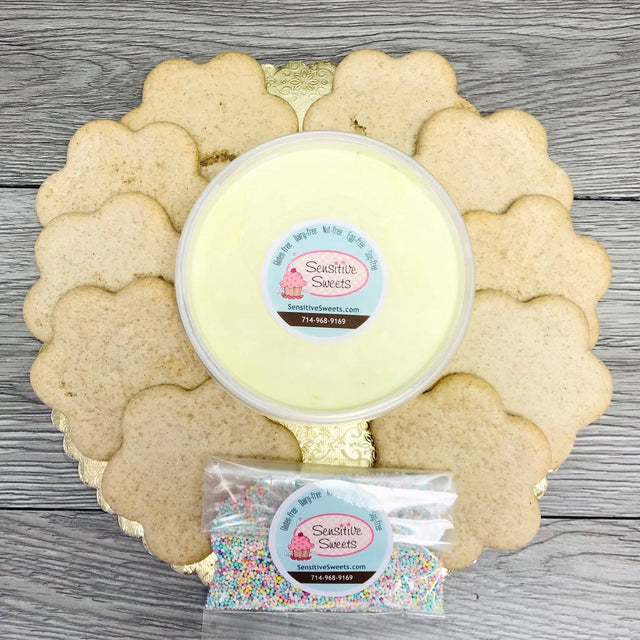 10 Flower cookies Decorating kit