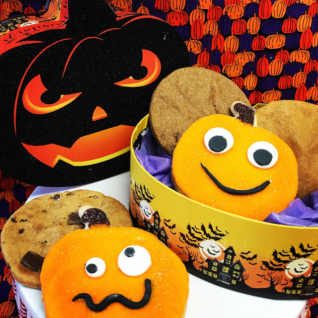 Halloween Pumpkin cookie gift set