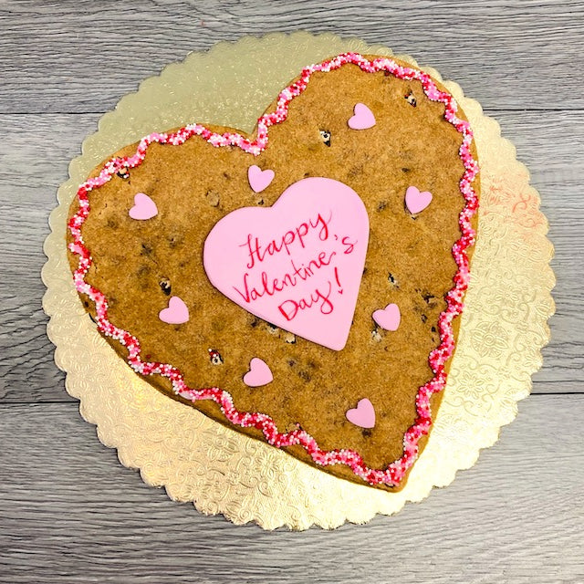 Custom large HEART cookie (SHIP)