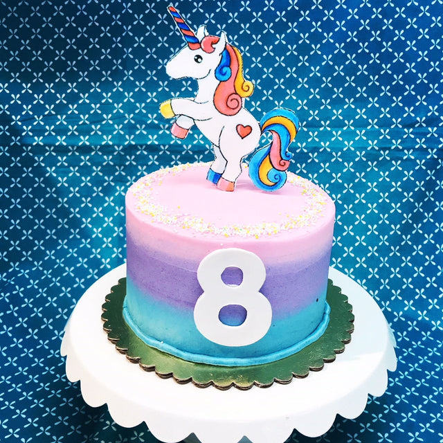Unicorn Ombre Edible Image Cake