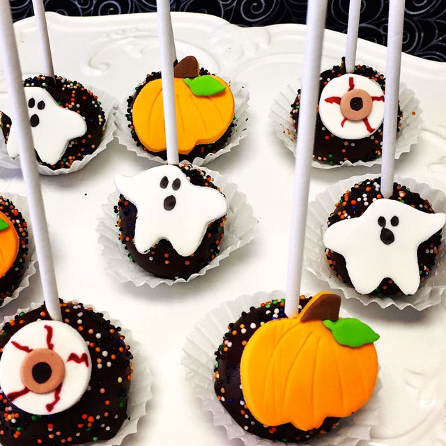 Four Halloween Cake Pops (Pickup Only)