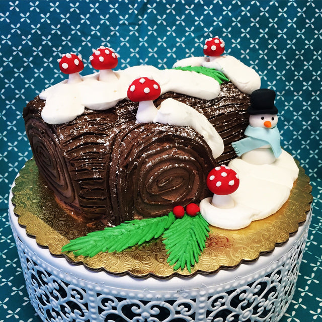 Yule Log with snowman (pickup only)