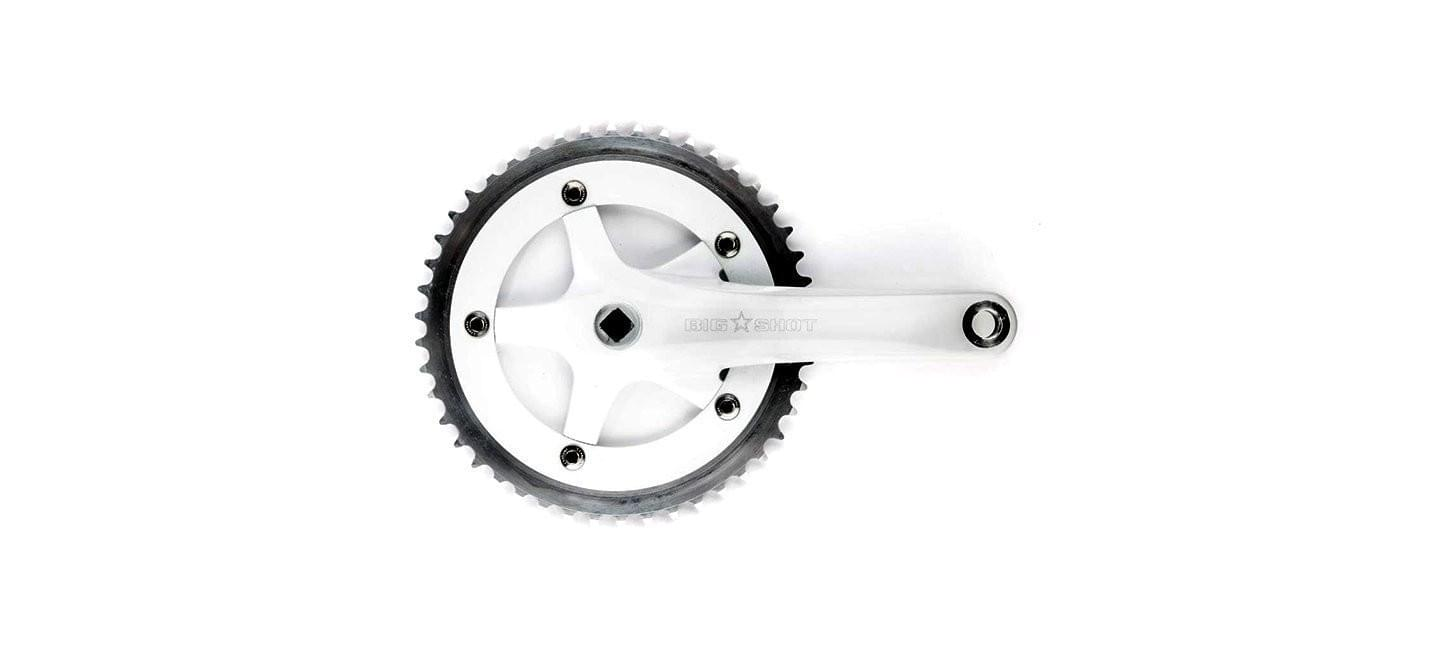 Crankset Big Shot Bikes city commuter Custom Fixed Gear Bicycle tire for urban commuting