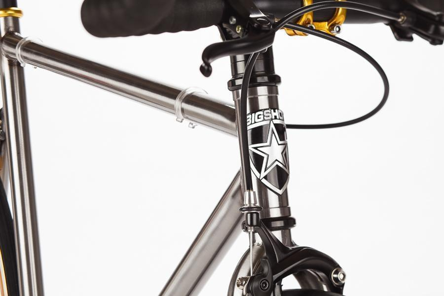 Premium - Blackout ™ Big Shot Bikes city commuter Custom Fixed Gear Bicycle black  frame or urban commuting