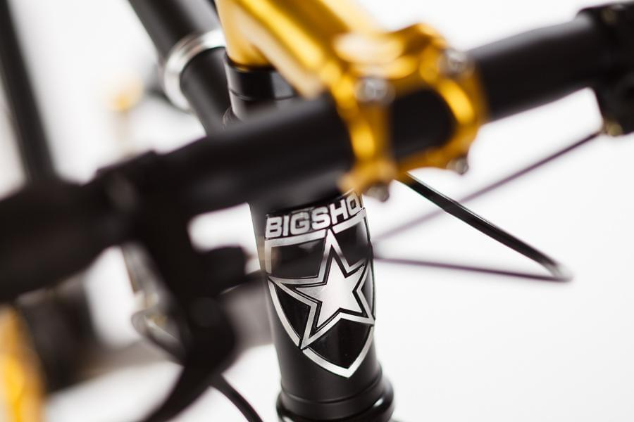 Premium - Blackout ™ Big Shot Bikes city commuter Custom Fixed Gear Bicycle fblack  frame or urban commuting