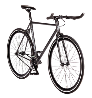 Big Shot Bikes city commuter Custom Fixed Gear Bicycle fixie in black for urban commuting