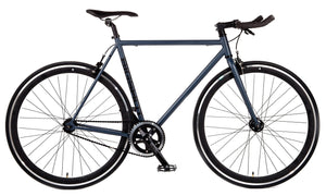 Big Shot Bikes city commuter Custom Fixed Gear Bicycle fixie in grey gray for urban commuting