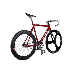 Track Bike  fixie bicyle frame 53cm 55cm 58cm  DIY 700C Aluminum alloy fixed gear bike with 3 Spoke wheel rim carbon fork