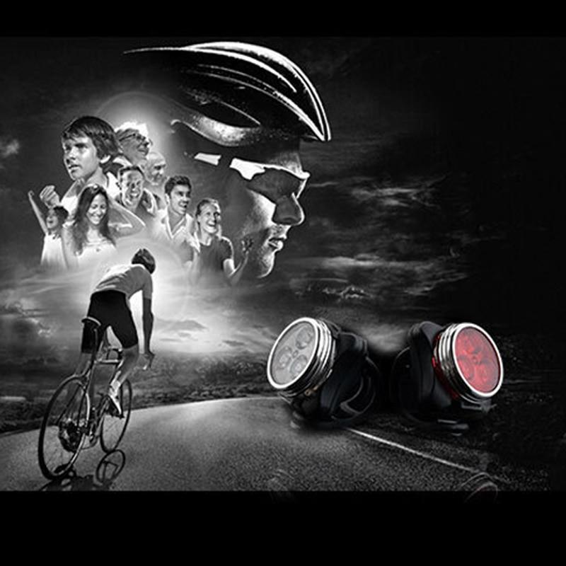 Cycling Bicycle Bike 3LED Head Front With USB Rechargeable Tail Clip Light Lamps