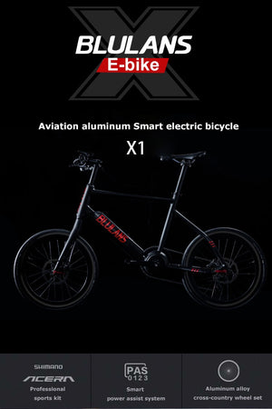 BLULANS Modelx1 Electric sMart Bike | 36v Battery | 250w Motor