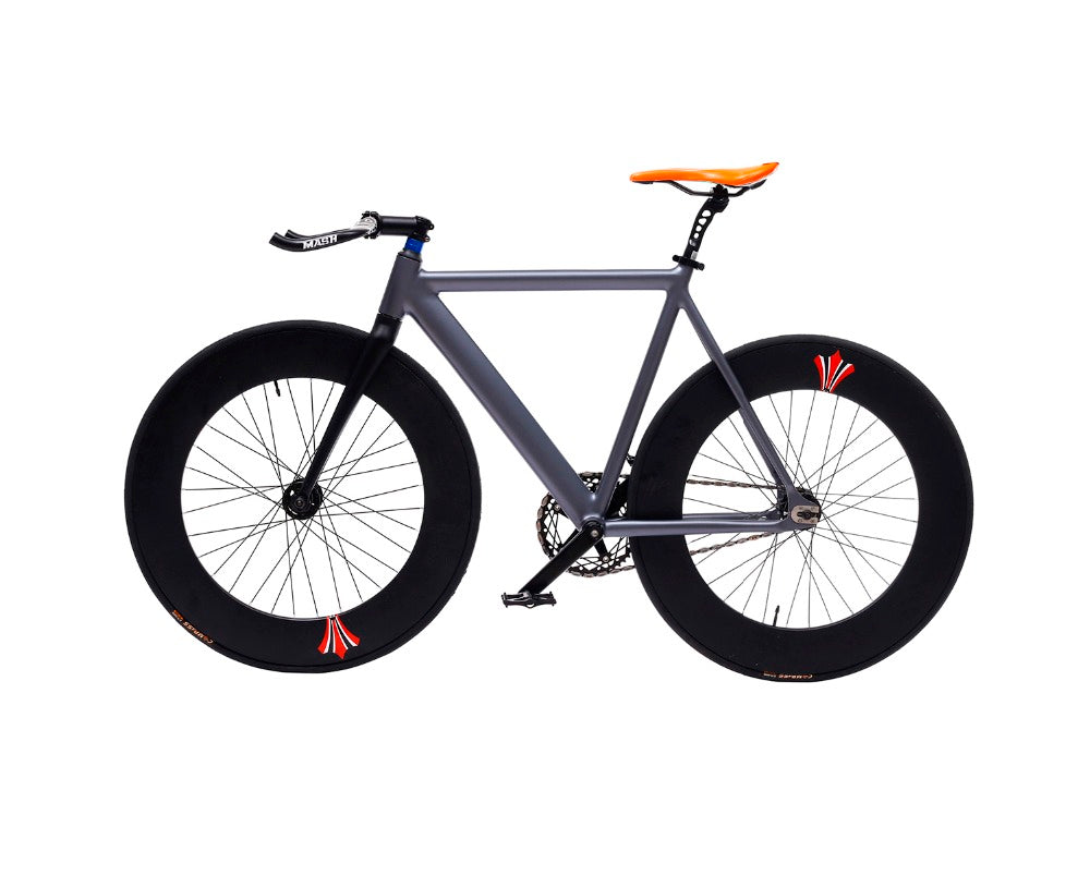 Fixed Gear Bike 54cm single speed bike Smooth Welding frame DIY color Aluminum alloy Customize Track Bicycle 700C wheel