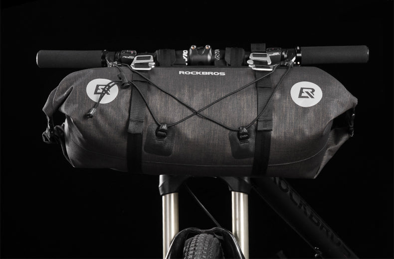 ROCKBROS Waterproof MTB Cycling Handlebar Bags Bicycle Front Tube Big Capacity 20 L Bag Front Frame Pannier Bike Accessories