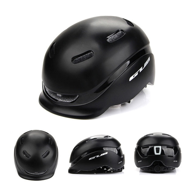 GUB City Plus Bike Helmet with USB Charging Taillight  Safety Bike Sports Urban Bicycle Helmet