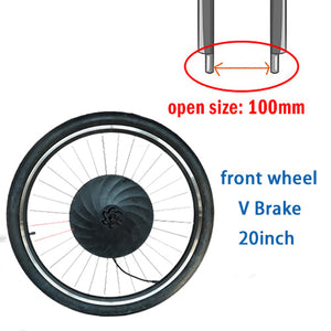 Electric Motor Conversion Kit for Front Wheel
