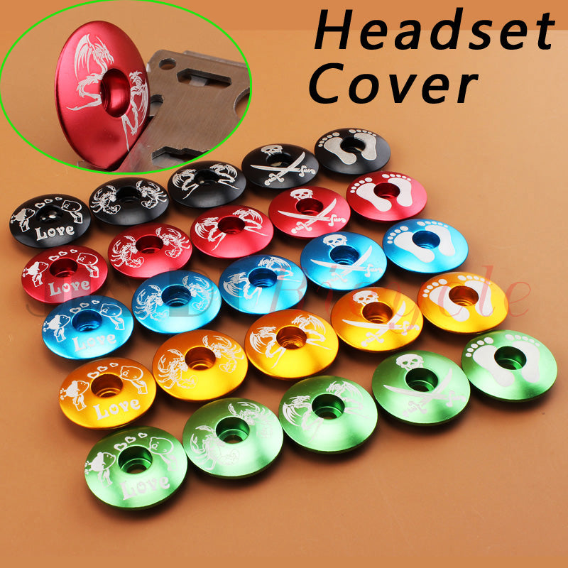 Bike Headset Cover Bowl Cover Ultra-light Headsets The Front Lid MTB Road Bike Fixed Gear Folding Bicycle Track Bike