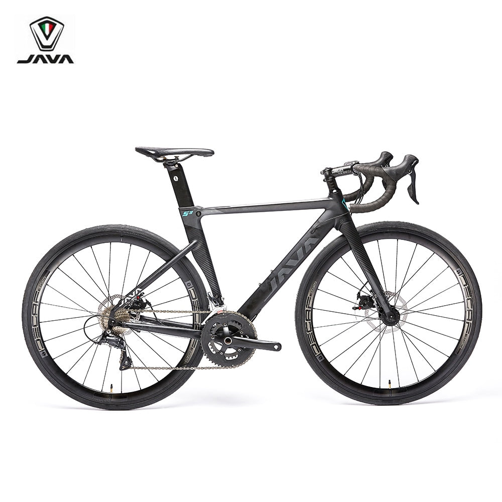 2019 JAVA SILURO3 Road Bike 700C Alumnium Frame with Carbon Fork Disc Brake R3000 18 Speed Aero Racing Bicycle