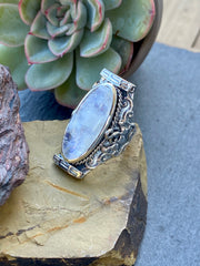 Silver Moonstone Ring
