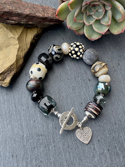 Multi Glass Bead Bracelet