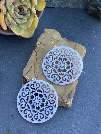 Mandala Disk Earrings