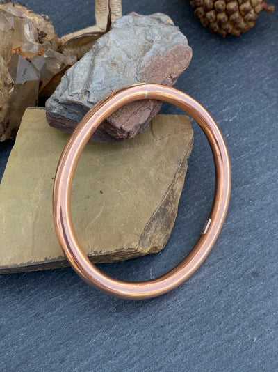 Oval Copper Bangle