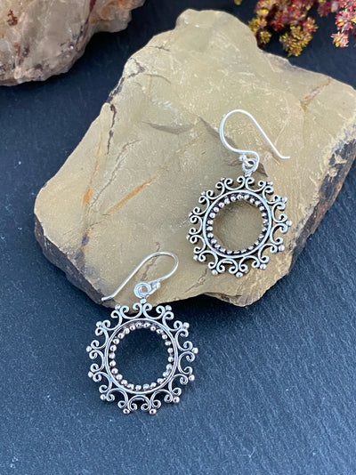 Sterling Mandala Earrings