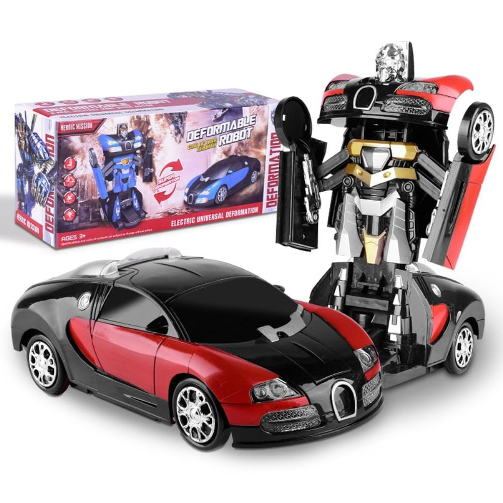 Electronic Transformer Robot Car Toys With Music And Cool Lights