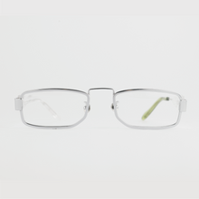 Load image into Gallery viewer, silver colour titanium rectangle optical frame front