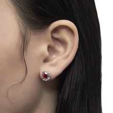 Load image into Gallery viewer, ZIRCON EAR STUDS Scarlet