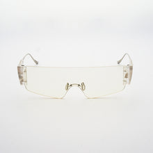 Load image into Gallery viewer, wide safety goggles style sunglasses with transparent one-piece lens front