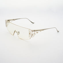 Load image into Gallery viewer, wide safety goggles style sunglasses with transparent one-piece lens 45 angled