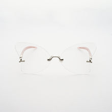 Load image into Gallery viewer, heart shaped lens with pearl nose pads and fountain pen style temples front