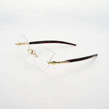 Load image into Gallery viewer, cat eye shaped optical lens with pearl nose pads and fountain pen style temples 45 angled
