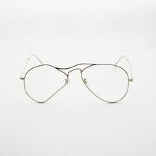 Load image into Gallery viewer, liquified aviator frames in chrome colour with clear nylon lens front