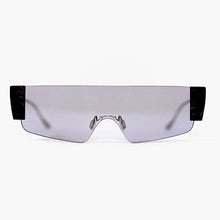 Load image into Gallery viewer, wide safety goggles style sunglasses with grey one-piece lens front