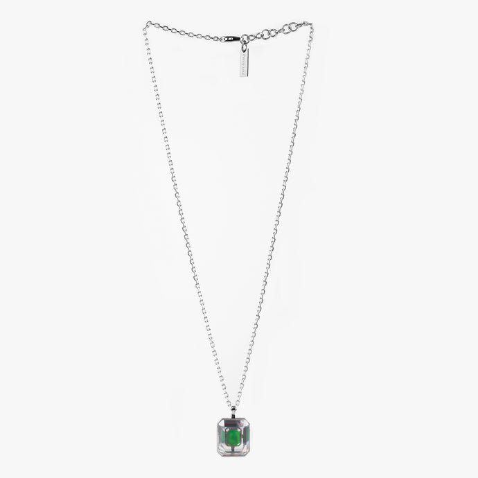 EMERALD CUT PENDANT Emerald