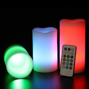 12 COLORS Changing Flameless Candles (1 set 3pcs)