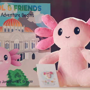 Autographed Bundle - Axol Plush, Pin, & Book