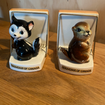 Canadian Napkin / Mail Holders - Beaver or Skunk