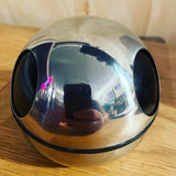 RETRO 1960's MID-CENTURY STAINLESS STEEL BALL SHAPED ASHTRAY - ATOMIC SPACE-AGE