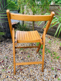 50s Solid wood fold up chairs