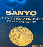 Vintage SANYO '14H-636' TRANSISTOR RADIO _ New Old Stock Boxed